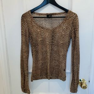 Just Cavalli leopard long sleeve top. Size S
